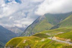 View of Caucasus mountains along  Georgian Military Road. Republic of Georgia royalty free stock image