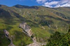 View of Caucasus mountains along  Georgian Military Road. Republic of Georgia stock photo