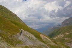 View of Caucasus mountains along  Georgian Military Road. Republic of Georgia royalty free stock images