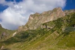 View of Caucasus mountains along  Georgian Military Road. Republic of Georgia stock photos