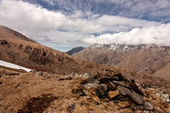 View of Caucasus mountains Royalty Free Stock Photography