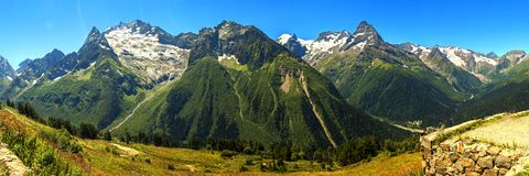 View of the Caucasus mountains Stock Photos