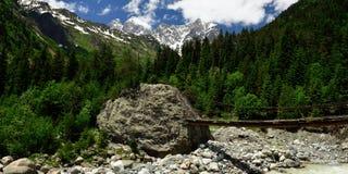 Mountains of the Caucasus in Swanetia region in Georgia Stock Images