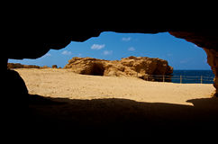 A view from cave Stock Photos