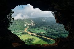 View from a cave  Stock Photography