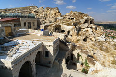 View of cave houses in Urgup. Cappadocia. Turkey Royalty Free Stock Photography