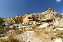 View of cave houses in Urgup. Cappadocia. Turkey Royalty Free Stock Images