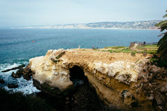 View of a cave and the Pacific Ocean in La Jolla, California. View of a cave and the Pacific Ocean in La Jolla, California stock image