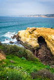 View of a cave and the Pacific Ocean in La Jolla, California. View of a cave and the Pacific Ocean in La Jolla, California stock photo