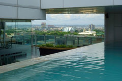 View of Cebu City. By Swimming Pool, Philippines 30 May 2017 Stock Images