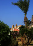 View of Cefalu. Panorama cefalu' and cathedral  (palermo) - sicily Stock Photos