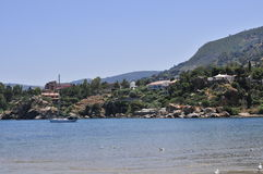 View on cefalu ocean and mountains Royalty Free Stock Photography
