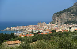 View of the Cefalu. Sicily, Italy. Stock Photo
