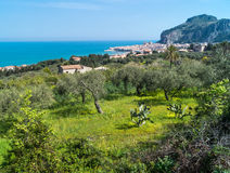 View of Cefalu, Sicily Stock Photography