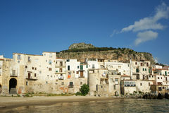 View of the Cefalu waterfront. Sicily, Italy Stock Photo