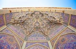 View of ceiling Nasir al-Mulk Mosque Stock Image
