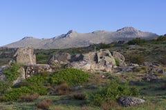 Celtic Castro of Ulaca. Avila, Spain. Stock Photo
