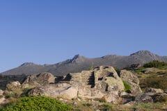 Celtic Castro of Ulaca. Avila, Spain. Royalty Free Stock Photography