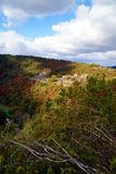 View of the celtic ruin Schmidtburg. Medieval Ruins of Schmidtburg, Hunsrueck, Germany. stock photography