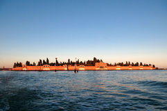 View of cemetery Isola di San Michele - island of Venice Italy Royalty Free Stock Images