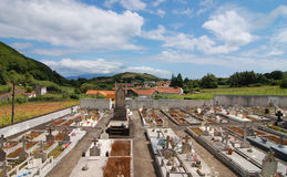 View from the cemetery. View from the tombs of the cemetery Stock Photos