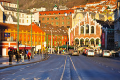 View cente city of Bergen Stock Photo