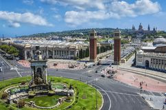 View of the center of Barcelona. Spain Stock Images