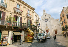 View on the center of Bari, Italy, with Bari Cathedral Stock Images