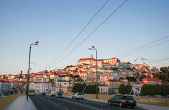 View on the center of Coimbra, Portugal Stock Photos