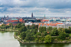 View on center of Copenhagen, Denmark Royalty Free Stock Images