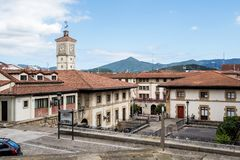View of the center of Gernika, Basque Country - Spain stock photo