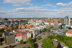 View on the center of Hannover. From the new City Hall Stock Photos
