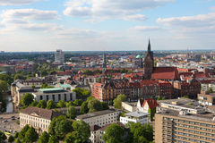 View on the center of Hannover. From the new Town Hall (neues Rathaus Stock Photo