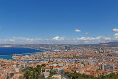 View on center of Marseille Royalty Free Stock Photography