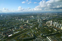 View of center of Moscow. View from the top of Ostankino TV tower stock images