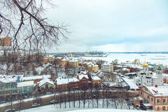 View of center Nizhny Novgorod from Kremlin Royalty Free Stock Photo