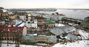 View of center Nizhny Novgorod from Kremlin Royalty Free Stock Photo