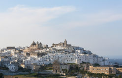 View on the center of Ostuni, Puglia, Italy Royalty Free Stock Photos