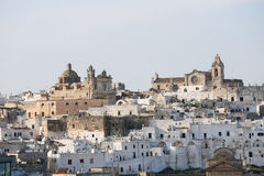 View on the center of Ostuni, Puglia, Italy Royalty Free Stock Photo