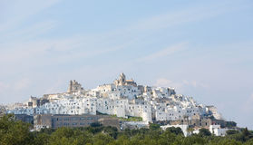 View on the center of Ostuni, Puglia, Italy Royalty Free Stock Images