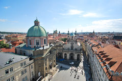 The view of the center of Prague Stock Photography