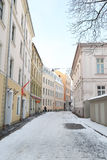 View of center of Riga at winter. Royalty Free Stock Images