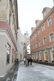 View of center of Riga at winter. Stock Images