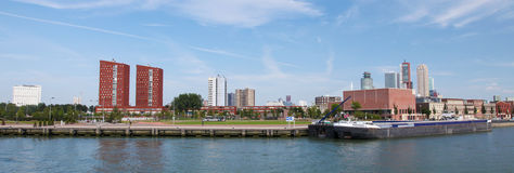 View on the center of Rotterdam, The Netherlands Stock Image