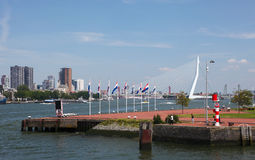 View on the center of Rotterdam, The Netherlands Royalty Free Stock Image