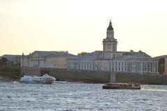 View of center of St.Petersburg at evening. Royalty Free Stock Photos