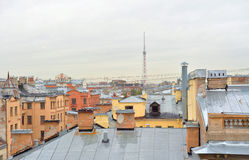 View of the center of St. Petersburg from the roof. Royalty Free Stock Photography