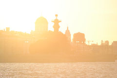 View of center of St.Petersburg at sunset. Royalty Free Stock Photo