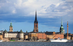 View on the center of Stockholm Stock Photo