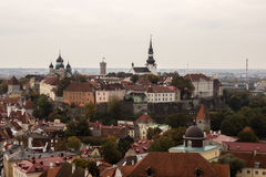 View of the center of Tallinn with the bird's flight 001 Stock Photos